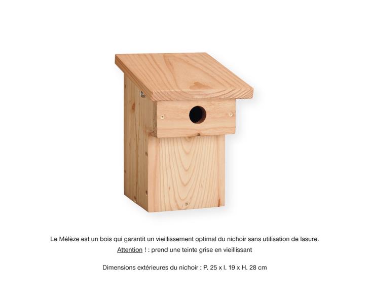 nichoirs balcon le petit catalogue la hulotte. Black Bedroom Furniture Sets. Home Design Ideas